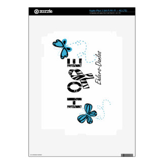 EDS Hope Zebra Ribbon Butterfly iPad Skin