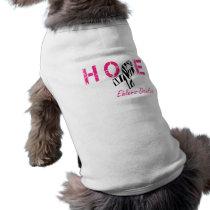 EDS Hope Zebra Stripe Ribbon Dog Shirt