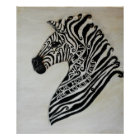 EDS Zebra by Artist Cherish Fletcher Poster