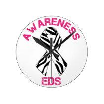 EDS Zebra Stripes Awareness Ribbon Wall Clock