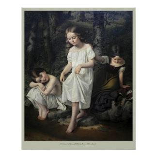 Eduard Steinbrück Children bathing CC0563 Poster