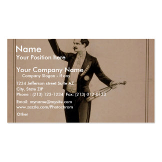 Eduard Strauss, 'Chickering Piano used' Retro Thea Business Card Template