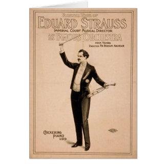 Eduard Strauss, 'Chickering Piano used' Retro Thea Greeting Card