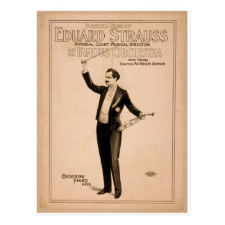 Eduard Strauss, 'Chickering Piano used' Retro Thea Post Card