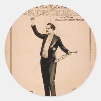 """Eduard Strauss, """"piano de Chickering utilizó"""" a Pegatina Redonda"""