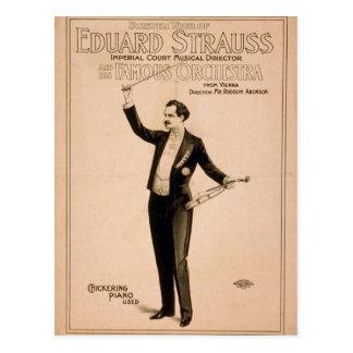 "Eduard Strauss, ""piano de Chickering utilizó"" a Th Tarjetas Postales"