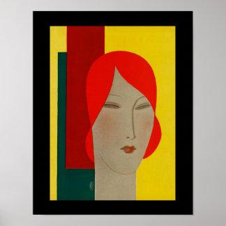 Eduardo Benito Magazine Cover Woman's Head Poster
