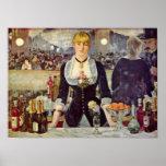 Eduardo Manet - barra en el Folies-Bergere Posters