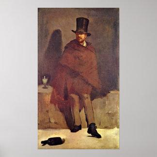 Eduardo Manet - bebedor del ajenjo Póster