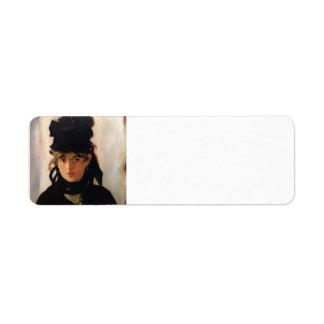 Eduardo Manet-Berthe Morisot, un ramo de violetas Etiquetas De Remite
