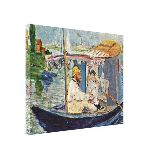 Eduardo Manet - Canale grande en Venecia Impresion En Lona