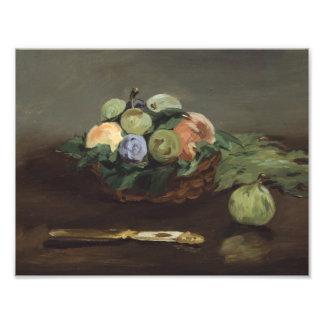 Eduardo Manet - cesta de fruta Cojinete