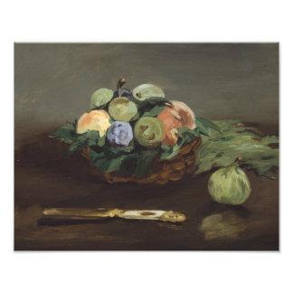Eduardo Manet - cesta de fruta Fotografía