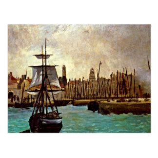 Eduardo Manet - el puerto de Burdeos Tarjeta Postal