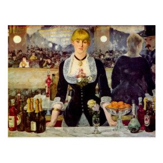 Eduardo Manet - una barra en la tarjeta de Tarjetas Postales