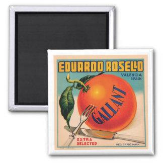 Eduardo Rosello Valencia Spain VIntage Crate Labe Magnet