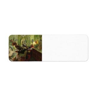 Eduardo Vuillard- el salón de señora Aron Etiqueta De Remite