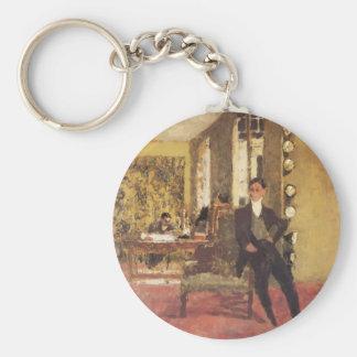 Eduardo Vuillard los marchantes 1908 Llavero Redondo Tipo Pin