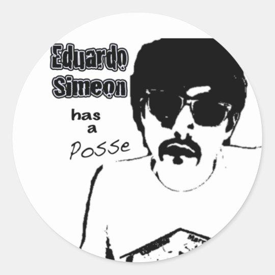 Eduardo where you want him classic round sticker