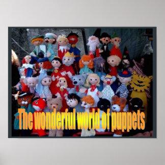 Educación, artes interpretativas, mundo de marione posters
