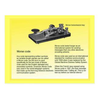 Educación ciencia código Morse que transmite Tarjetas Postales