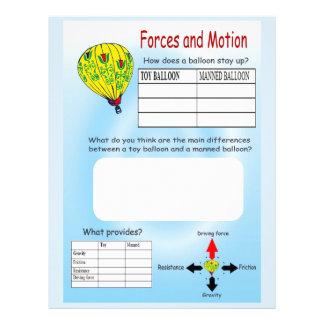 Educación, ciencia, fuerzas y movimiento, globos tarjetón