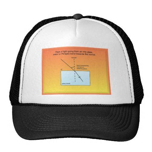 Educación, ciencia, luz, refracción gorras