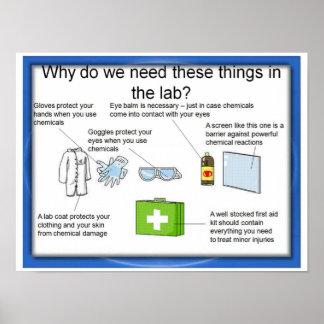 Educación, ciencia, seguridad del laboratorio poster