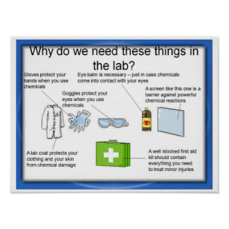 Educación, ciencia, seguridad del laboratorio póster