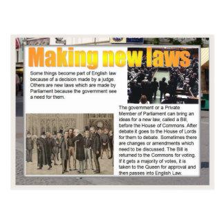 Educación, ciudadanía, haciendo nuevas leyes tarjeta postal