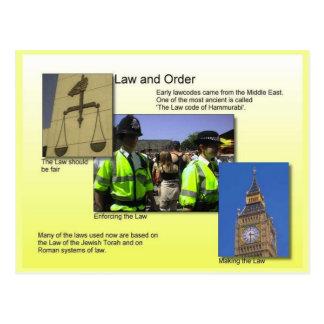 Educación, ciudadanía, ley, orden y justicia postal