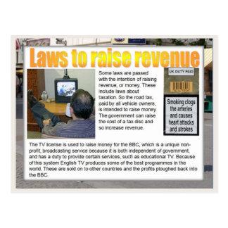 Educación, ciudadanía, leyes para aumentar los postales