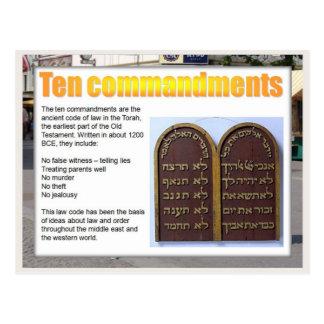 Educación, ciudadanía, mandamientos de la ley diez tarjeta postal