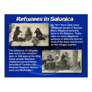 Educación, ciudadanía, refugiados en Salonica 1917 Postales