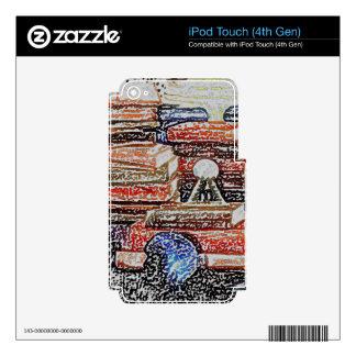Educación de enseñanza de la lectura del iPod touch 4G calcomanías