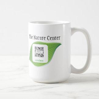 Educación de la naturaleza de la plantilla de la taza de café