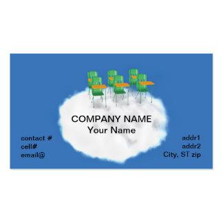 educación de la nube tarjetas de visita