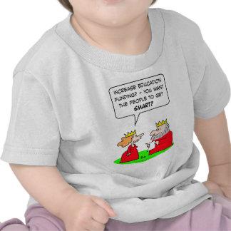 educación de la reina del rey que financia a gente camisetas