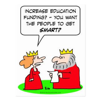 educación de la reina del rey que financia a gente postales