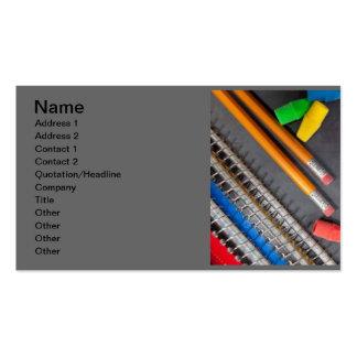 educación de los libros de los borradores de lápic tarjetas de visita