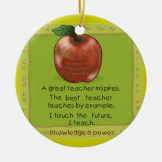 Educación del profesor de Apple Ornamento Para Reyes Magos