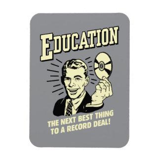 Educación: El mejor trato del expediente de la cos Rectangle Magnet