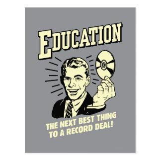 Educación: El mejor trato del expediente de la cos Tarjeta Postal
