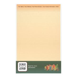 Educación elemental de la plantilla de los efectos papeleria