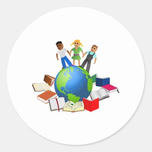 Educación en todo el mundo pegatina
