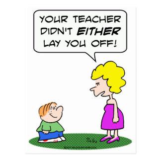 educación escolar despedida endecha del profesor tarjetas postales