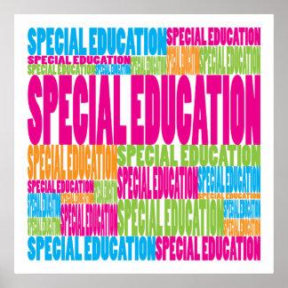 Educación especial colorida posters