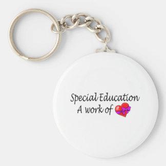 Educación especial un trabajo del amor llavero redondo tipo pin