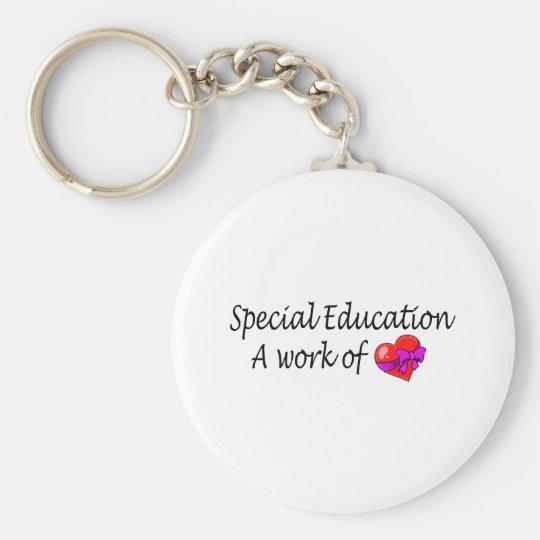 Educación especial, un trabajo del amor llavero redondo tipo pin