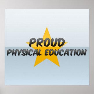 Educación física orgullosa póster